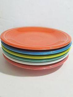 Fiesta Fiestaware 7 Inch Plates Lot of 5 Various Colors Cinco De Mayo Salad VTG