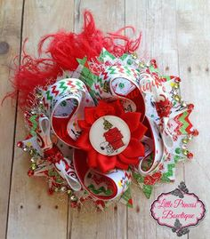Little Princess Bowtique (holiday gift guide) #christmashairbow