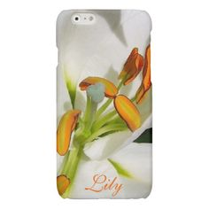 Inside The White Lily iPhone 6 case *Personalize*