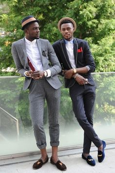 street style loafers trousers