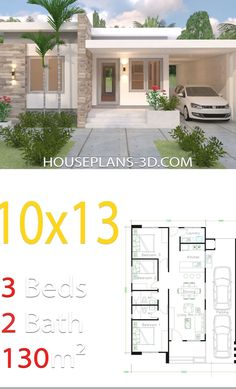 My House Plans, House Layout Plans, Modern House Plans, House Layouts, Simple House Design, House Front Design, Modern House Design, Bungalow Haus Design, Modern Bungalow House