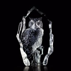 Mats Jonasson Crystal Eagle Owl.