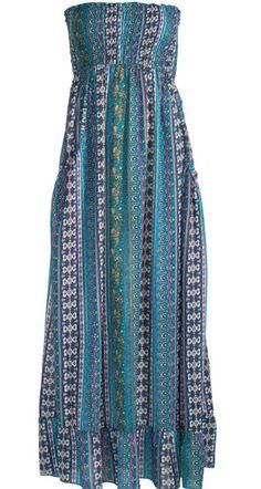 0ca259b8d8b Hippy Dress Ethnic Maxi Dress Panel Print Strapless Dress Fair trade by Folio  Gothic Hippy D270