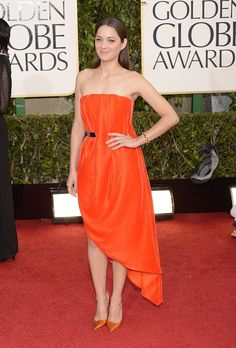 A citrus feel at the 70th Golden Globe Awards.