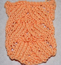 How to Knit Fish Scale Lace: Fish Scale Lace worked over 17 stitches.