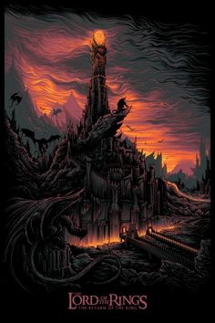 Lord of the Rings: Return of the King alternative movie poster by Dan Mumford