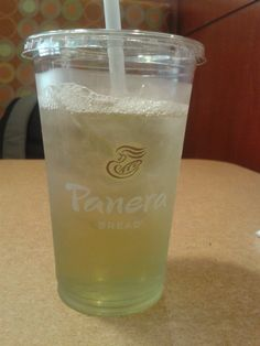 Green tea. Panera bread Panera Bread, Food Reviews, Teas, Pint Glass, Make It Yourself, Drinks, Tableware, Green, Blog