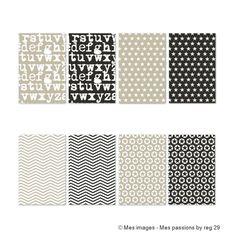 DIGITAL SCRAP : Papier Imprimable : Format A4 (21 X 29,7 cm)