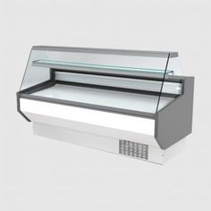Blizzard 2000(w)mm Flat Glass Meat Serve Over Counter: ZETA200