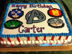 Avengers birthday cake but use the cakelets Birthday Fun, 1st Birthday Parties, Birthday Ideas, Avengers Birthday Cakes, Captain America Birthday, Hero Time, Cakes And More, Cake Ideas, Party Time
