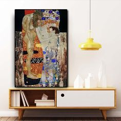 Gustav Klimt by The Three Ages of Woman Oil Painting on Canvas Posters and Prints Scandinavian Wall Art Picture for Living Room Oil Painting On Canvas, Canvas Art Prints, Canvas Wall Art, Pop Art Pictures, Artist Wall, Classic Paintings, Canvas Poster, Gustav Klimt, Scandinavian