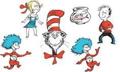 Cat in the Hat Character Cutouts - Party City