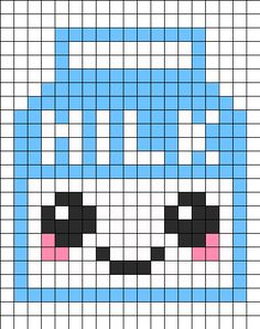 Milk Perler Bead Pattern / Bead Sprite