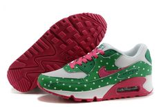Nike Air Max 90 polka dot Green Pink White Women