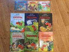 10 x Der kleine Drache Kokosnuss * CD, Bücher Paket
