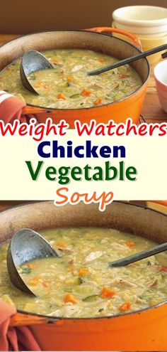 Chicken Vegetable Soup , This Healthy Weight Watchers Vegetable Chicken Soup recipe is FULL of veggies and great to detox when you need to eat healthy! Don't forget to Pin this so it will be SAVED to your timeline! Weight Watcher Chicken Soup Recipe, Weight Watcher Vegetable Soup, Weight Watchers Soup, Weight Loss Soup, Weight Watchers Desserts, Veggie Soup Recipes, Vegetable Soup With Chicken, Ww Recipes, Skinny Recipes