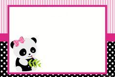 Pink Panda: Free Custom - Inspire Your Party ® Panda Themed Party, Panda Birthday Party, Panda Party, Hello Kitty Birthday, 10 Birthday, Pink Panda, Panda Bear, Cute Panda Drawing, Panda Decorations