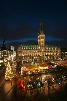 There is nothing like a Christmas market in Germany! Hamburger Dom, Places Around The World, Around The Worlds, Places To Travel, Places To Visit, German Christmas Markets, Cities In Germany, Famous Castles, Hamburg Germany
