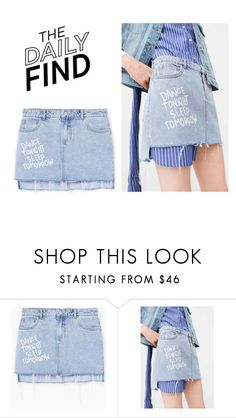 """""""The Daily Find: Mango Skirt"""" by polyvore-editorial ❤ liked on Polyvore featuring MANGO and DailyFind"""