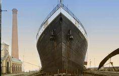 - 1912, Titanic in colour. Colorisedby Anton...