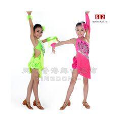 Cheap Vestido latino de la danza niños Rose / amarillo vestido de ...