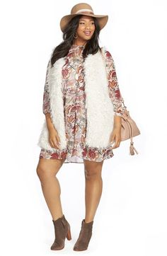 Two by Vince Camuto Oversized Shaggy Faux Fur Vest (Plus Size)   Nordstrom
