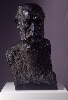 NAKAHARA, Teijiro  : Head of an Old Man   (1916)   bronze   60.0×38.0×40.0    The National Museum of Modern Art, Tokyo