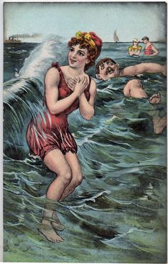 #vintage seaside postcard
