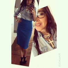 Rocking my new @alhajadco statement collar!! Love it! #ootd @ilemiranda #shoes