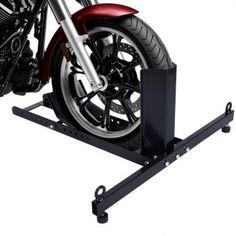 This is our Motorcycle Stand Wheel Chock,which is of solid steel construction. This adjustable wheel lock fits front or rear motorcycle wheel sizes from 15 in. It will be a great help to hold your bike upright, to change the oil, transport. Motorcycle Wheels, Scrambler Motorcycle, Motorcycles, Yamaha Bikes, 22 Wheels, Homemade Motorcycle, Garage Workshop, Truck Bed, Motorbikes