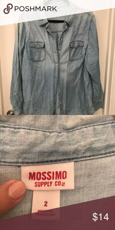 60a4bfaaa1e Shop Women s Mossimo Supply Co Blue size 14 Button Down Shirts at a  discounted price at Poshmark. Description  Plus size denim shirt.