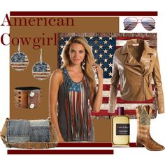 American Cowgirl by suziqleathers on Polyvore featuring Sans Souci, Patricia Nash, Nemesis, ZeroUV and Atelier Cologne