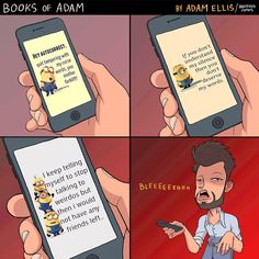 """""""Enough Is enough"""" Books of Adam is my hero for putting this into cartoon form Adam Ellis Comics, Enough Book, Funny Jokes, Hilarious, My Silence, Short Comics, Comic Artist, Funny Comics, Comic Strips"""