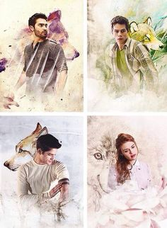 Derek Hale, Stiles Stilinski, Scott McCall, and Lydia Martin edit