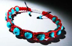 Shamballa turquoise red