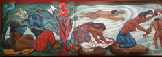 Diego Rivera 1953_55_ la Rivière Juchitan_ detail
