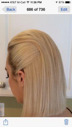 Woman's Slicked Back Hair - Formal Hair Quiff Hairstyles, Pretty Hairstyles, Short Slicked Back Hair, Medium Hair Styles, Short Hair Styles, Hair Creations, Facon, Hair Designs, Hair Dos