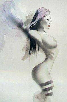 Psylocke by Shelton Bryant