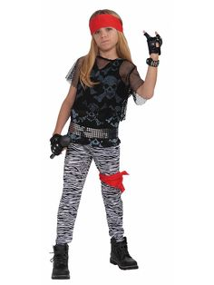 Time to rock 'n' roll like a rocker god in our Rock Star Boy Kids Costume. All your child needs is the glam rock attitude and the big hair while they play that air guitar wildly! Our kids Rock Star Boy Costume includes a wide red headscarf,cropped Rocker Costume, Punk Costume, Up Costumes, Funny Halloween Costumes, Star Costume, Costume Ideas, Decades Costumes, Referee Costume, Tween Costumes