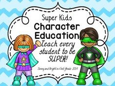 Superhero character ed. program. 40 character traits included.  Teach one each week or choose the traits your school focuses on! ($)