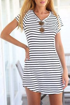 Cupshe Stylish Striped Short Sleeve Dress | Find Out More & Where To Buy By Clicking Picture | affiliate link | TheProductPromoter.com