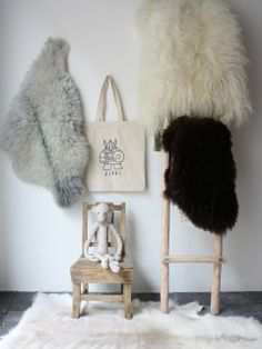 Jippi reindeer hide + sheep skins | Serendipity, Paris