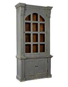 Evangeline Cabinet 46.75wx88.5h  #bluecabinet #shabbychic #woodencabinet #countryblue  #rusticstyle