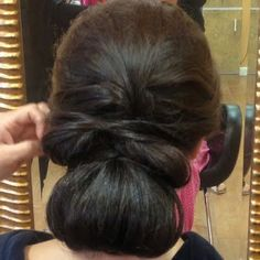 Elegant Low Bun by Farida F.  Click the pic to see the products she used. #beauty #hair #hairdo #formal