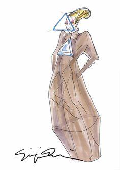 Giorgio Armani costume design for Lady Gaga