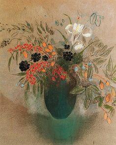Odilon Redon    Flowers in a Vase    1901-10