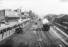 Hunter St,near Crown St in Newcastle in the Hunter region of New South Wales in Tasmania Hobart, Hunter Street, Tourist Info, Newcastle Nsw, Old Maps, Historical Architecture, My Favorite Image, City Buildings, South Wales