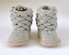 The perfect booties for Autumn 2015 - Try the New Crochet Pattern for Scallop Baby Booties by matildasmeadow