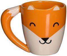 Amazon.com: Thumbs Up! Fox Shaped Mug, Orange, Ceramic: Kitchen & Dining