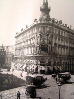Esquina de las calles Alcalá y Sevilla. Madrid, 1920